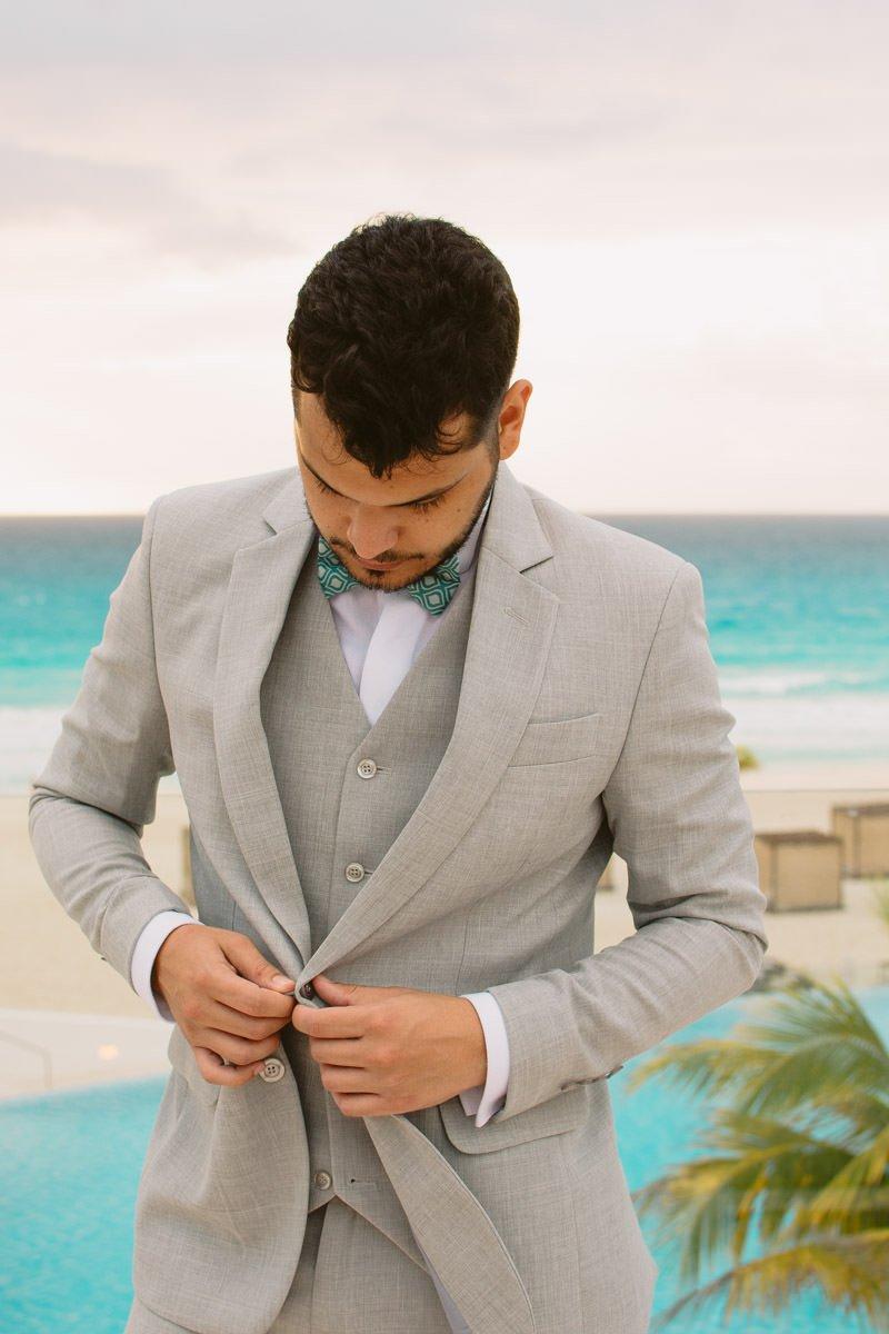 noivo em cancun destination wedding