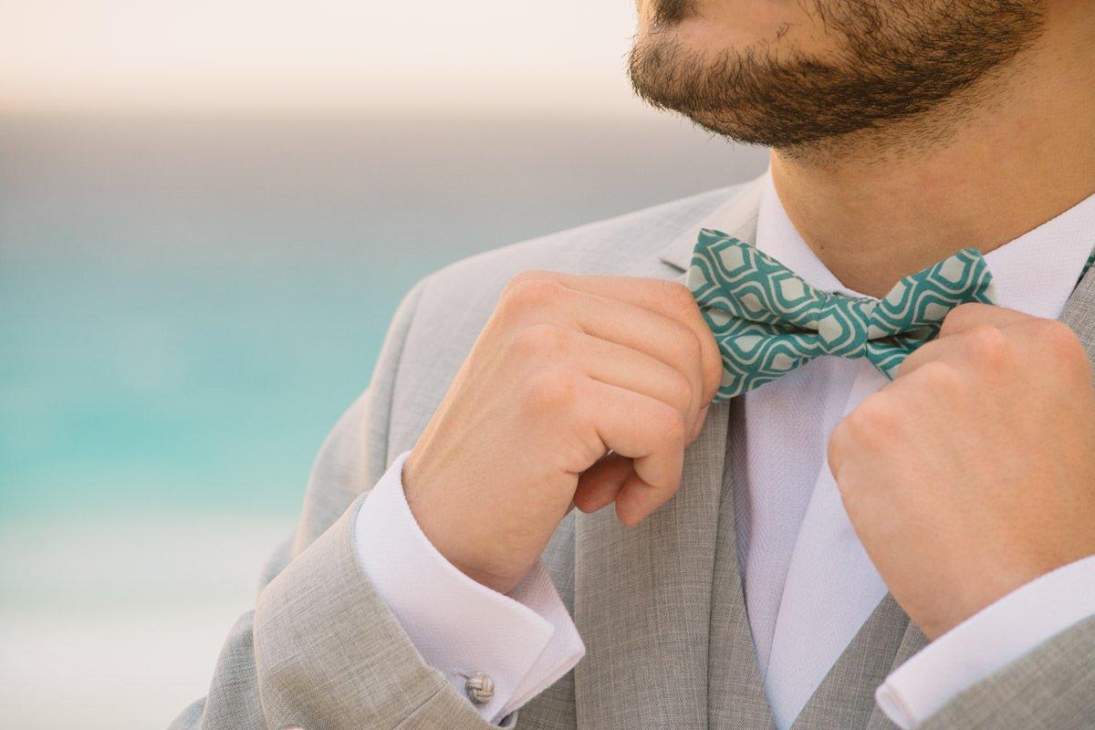 detalhe terno do noivo cancun destination wedding