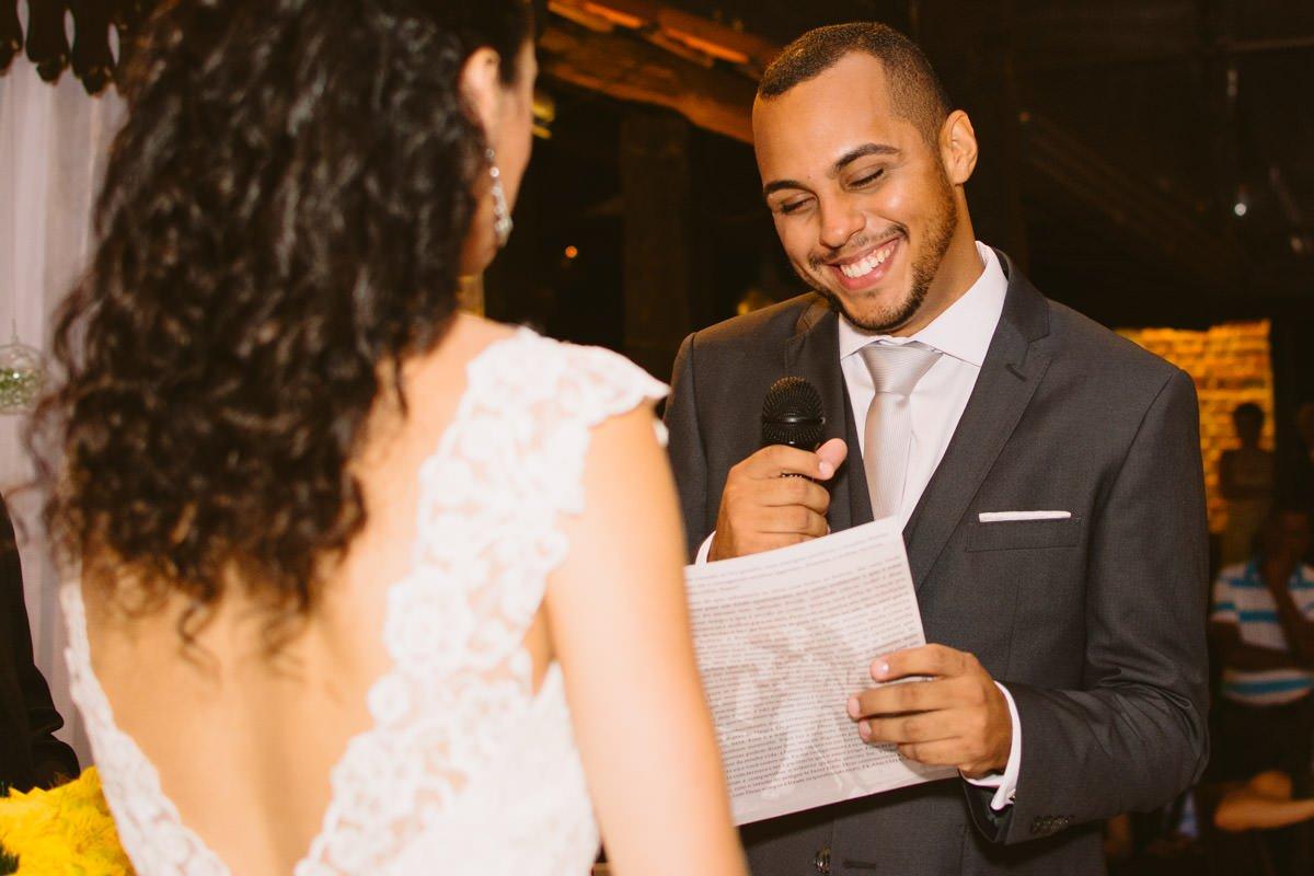 voto dos noivos no casamento rústico