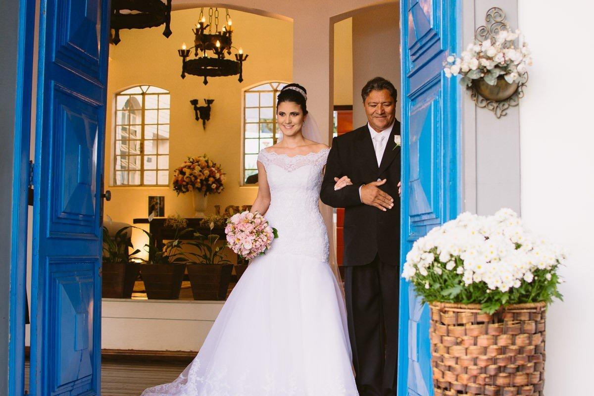 fotografia de casamento da entrada da noiva garças pampulha belo horizonte